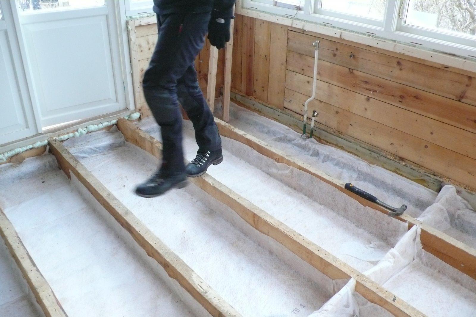 Isolera golvet u2013 Elsa på Hälsö